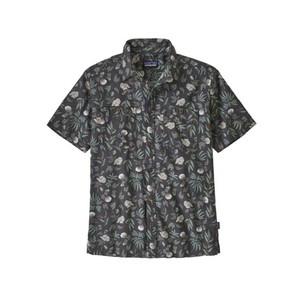 Patagonia Back Step Shirt Mens in Fiber Flora Multi: Forge Grey
