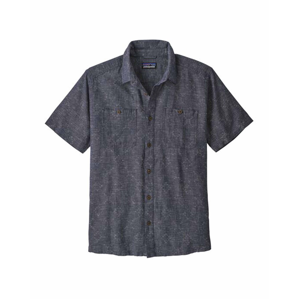 Patagonia Back Step Shirt Mens Goshawk Dobby: New Navy
