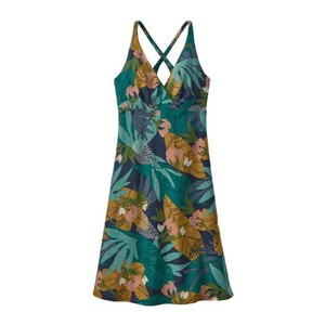 Patagonia Amber Dawn Dress Womens in Cotton Wild Big: New Navy