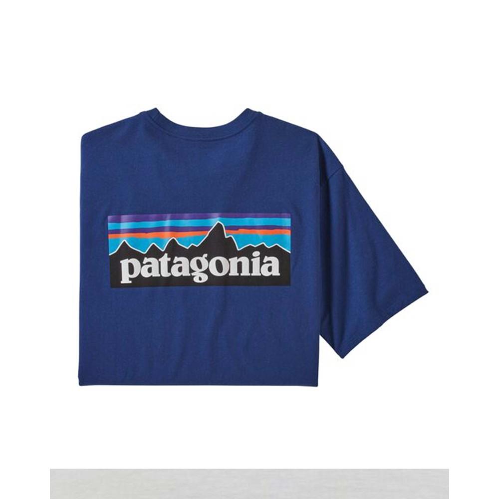 Patagonia P-6 Logo Responsibili-Tee Mens Superior Blue