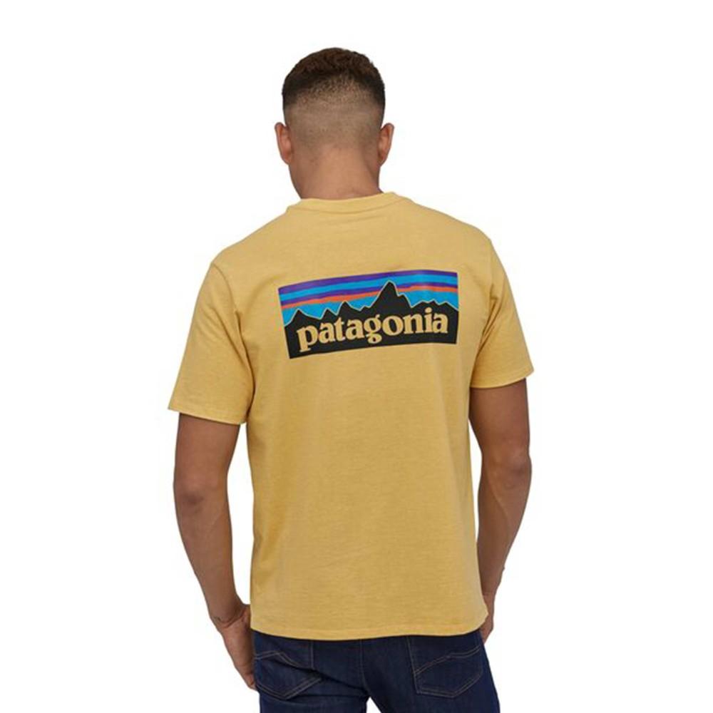 Patagonia P-6 Logo Responsibili-Tee Mens Surfboard Yellow