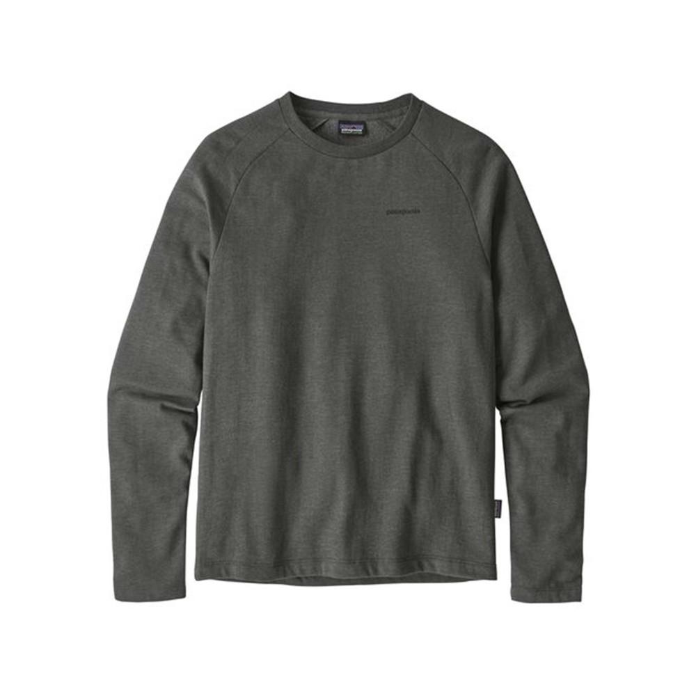 Patagonia P-6 Logo LW Crew Sweatshirt Mens Forge Grey