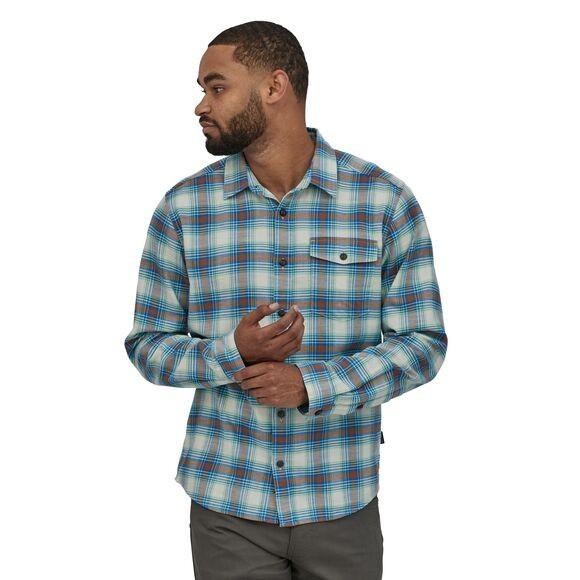 Patagonia LS Lightweight Fjord Flannel Shirt Mens Grange: Bayou Blue