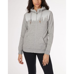 tentree Juniper Zip Hoodie Womens in Hi Rise Grey Heather