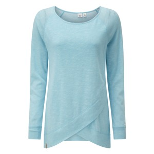 tentree Acre LS Womens in Glacier Blue Marled