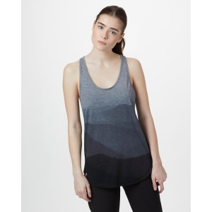 tentree Destination Tank Womens in Rise Grey Heather/Hi Rise Grey - Mountain SUB