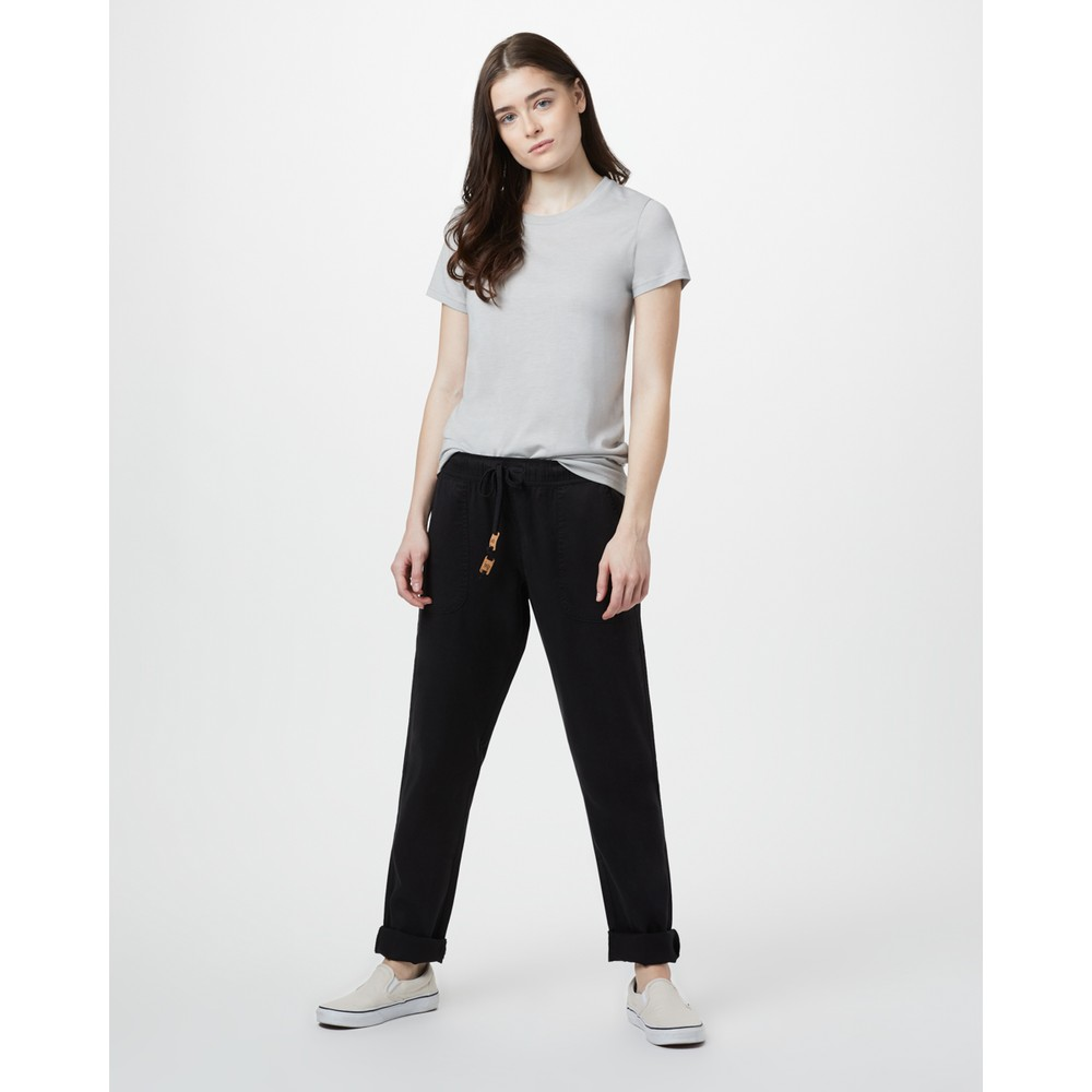 tentree Colwood Straight Pant Womens Meteorite Black