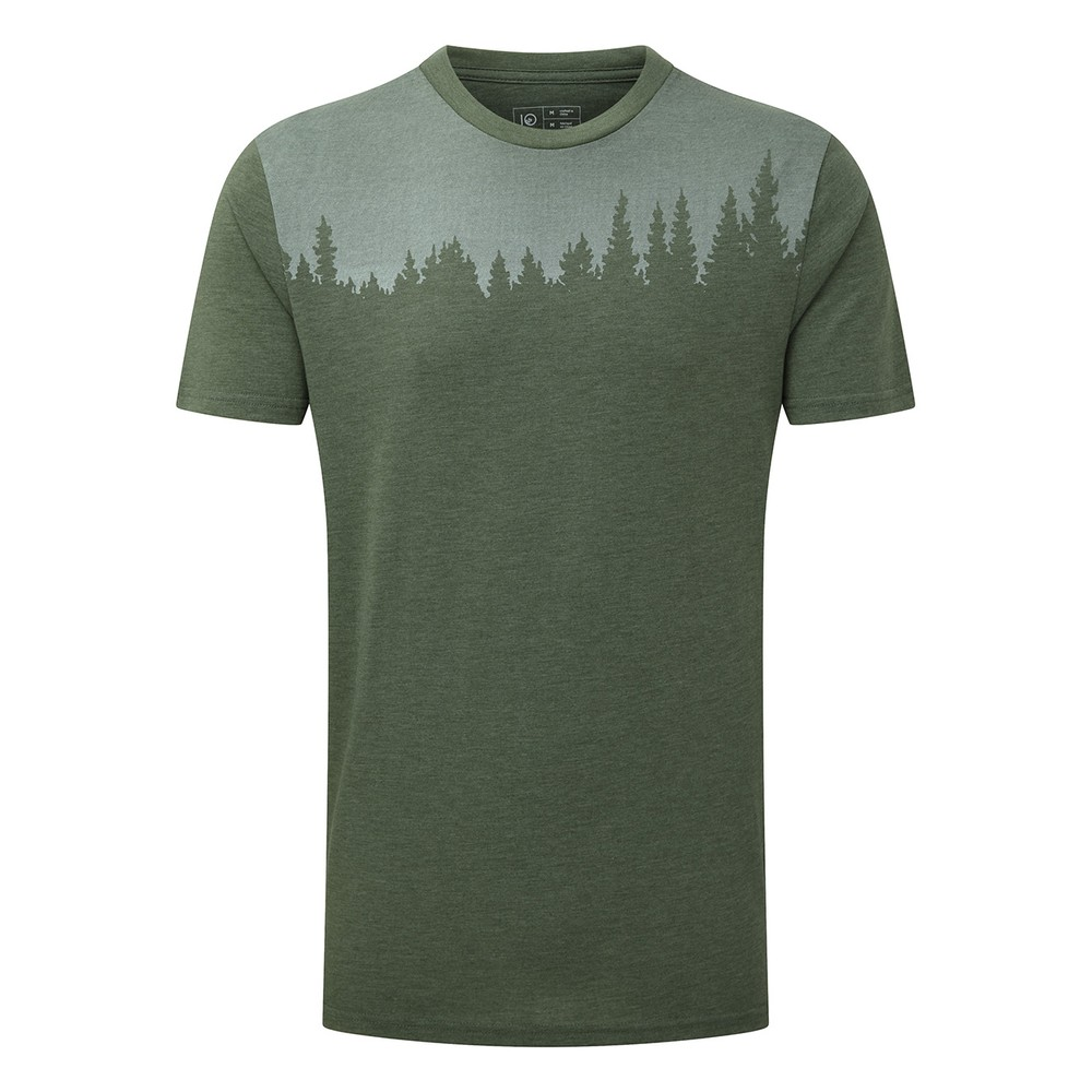 tentree Juniper Classic T-Shirt Mens Forest Green Heather