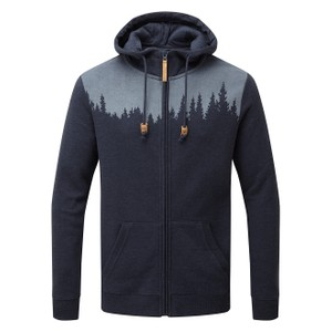 tentree Juniper Zip Hoodie Mens in Dark Ocean Blue Heather
