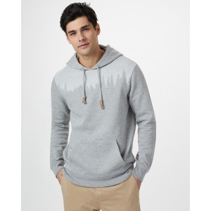 tentree Juniper Hoodie Mens in Hi Rise Grey Heather