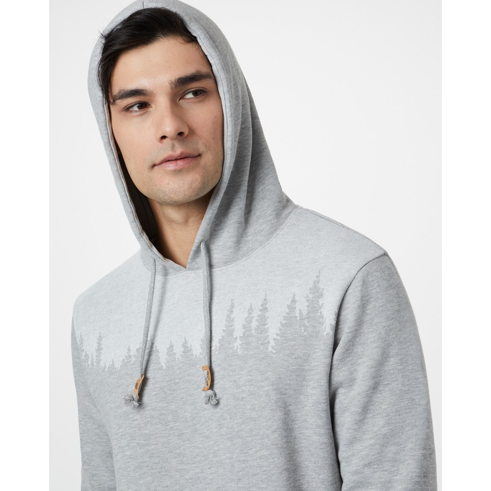 tentree Juniper Hoodie Mens Hi Rise Grey Heather