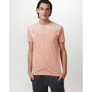 tentree Palm Classic T-Shirt Mens in Chinook Orange Heather