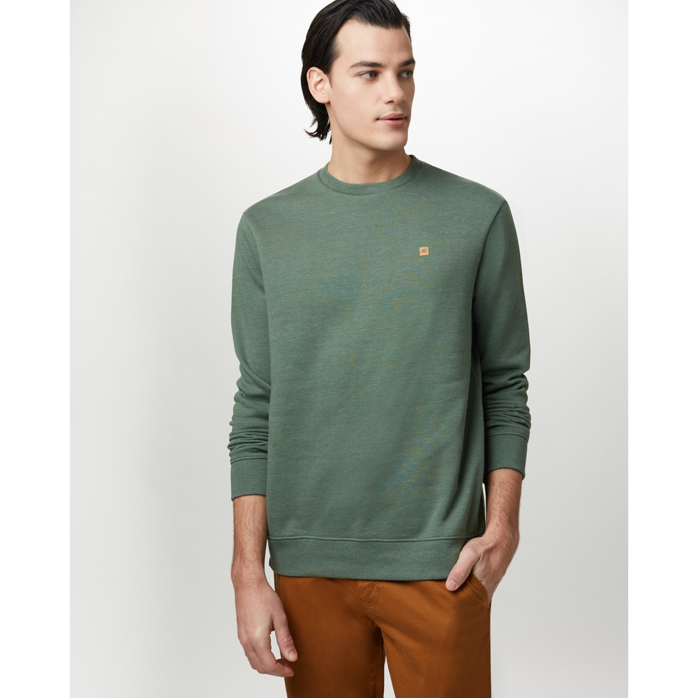 tentree Classic Crew Mens Forest Green Heather