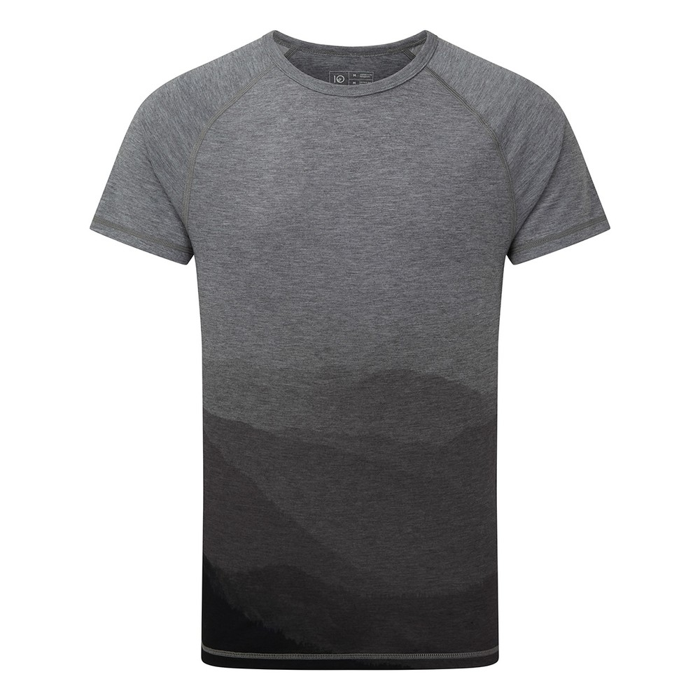 tentree Destination T-Shirt Mens Rise Grey Heather/Hi Rise Grey - Mountain SUB