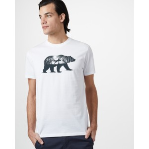 tentree Den Cotton Classic T-Shirt Mens in Optic White