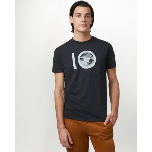 tentree ten Classic T-Shirt Mens in Meteorite Black Heather