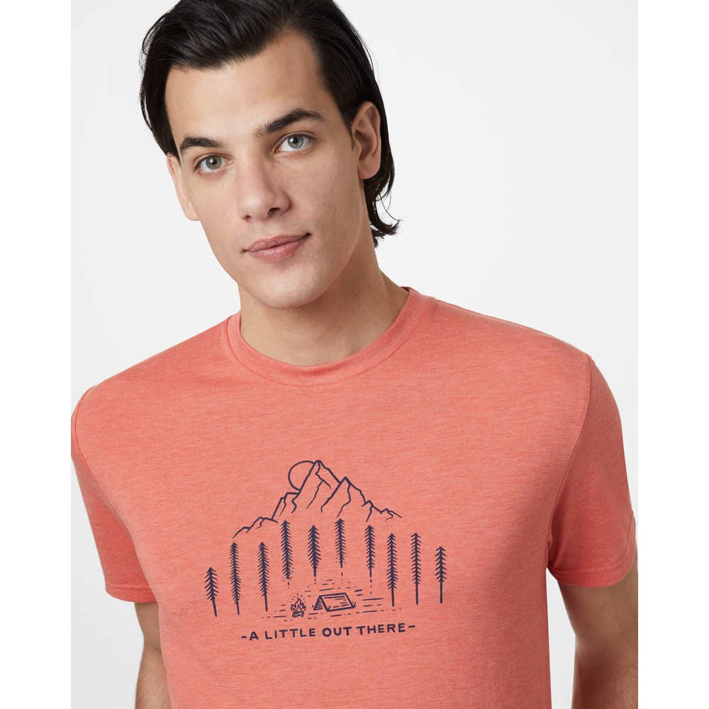 tentree Within Reach Classic T-Shirt Mens Burnt Sienna Orange Heather