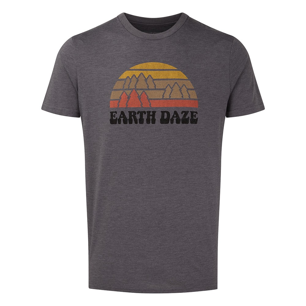 tentree Earth Daze Classic T-Shirt Mens Boulder Grey Heather