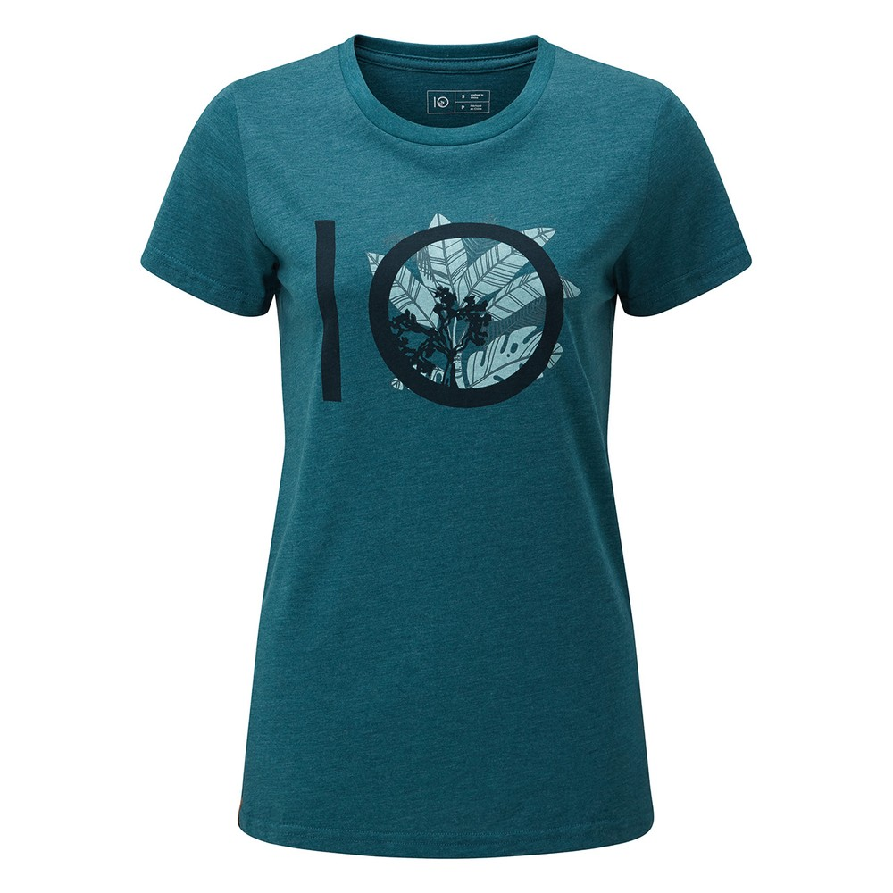 tentree ten Classic T-Shirt Womens Star Gaze Blue Heather
