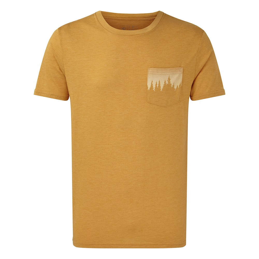 tentree Juniper Pocket T-Shirt Mens Sweet Birch Yellow Heather