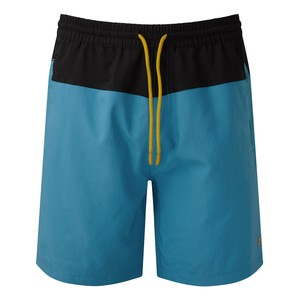 tentree Board Short Mens in Blue Lake Blue/Meteorite Black
