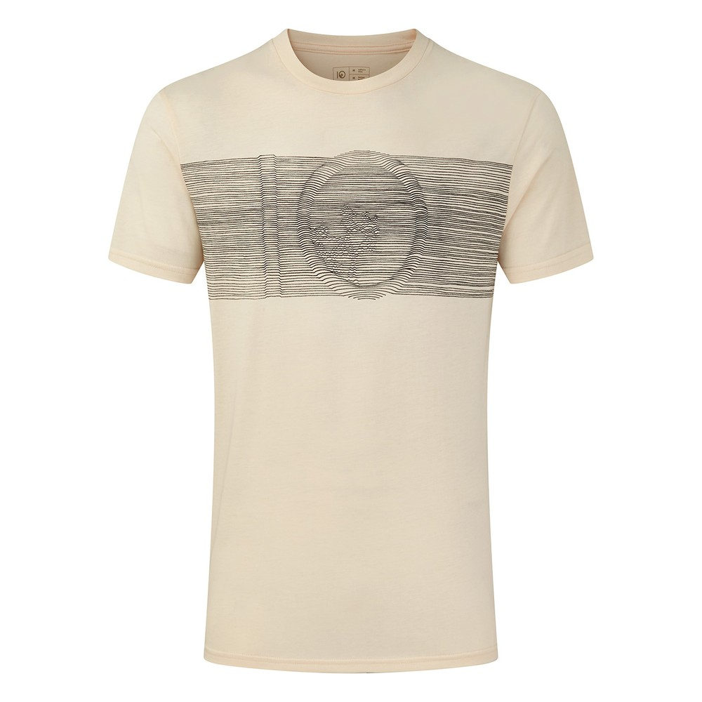 tentree Topographic Classic T-Shirt Mens Elm White Heather