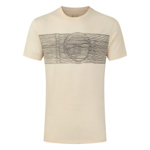tentree Topographic Classic T-Shirt Mens in Elm White Heather