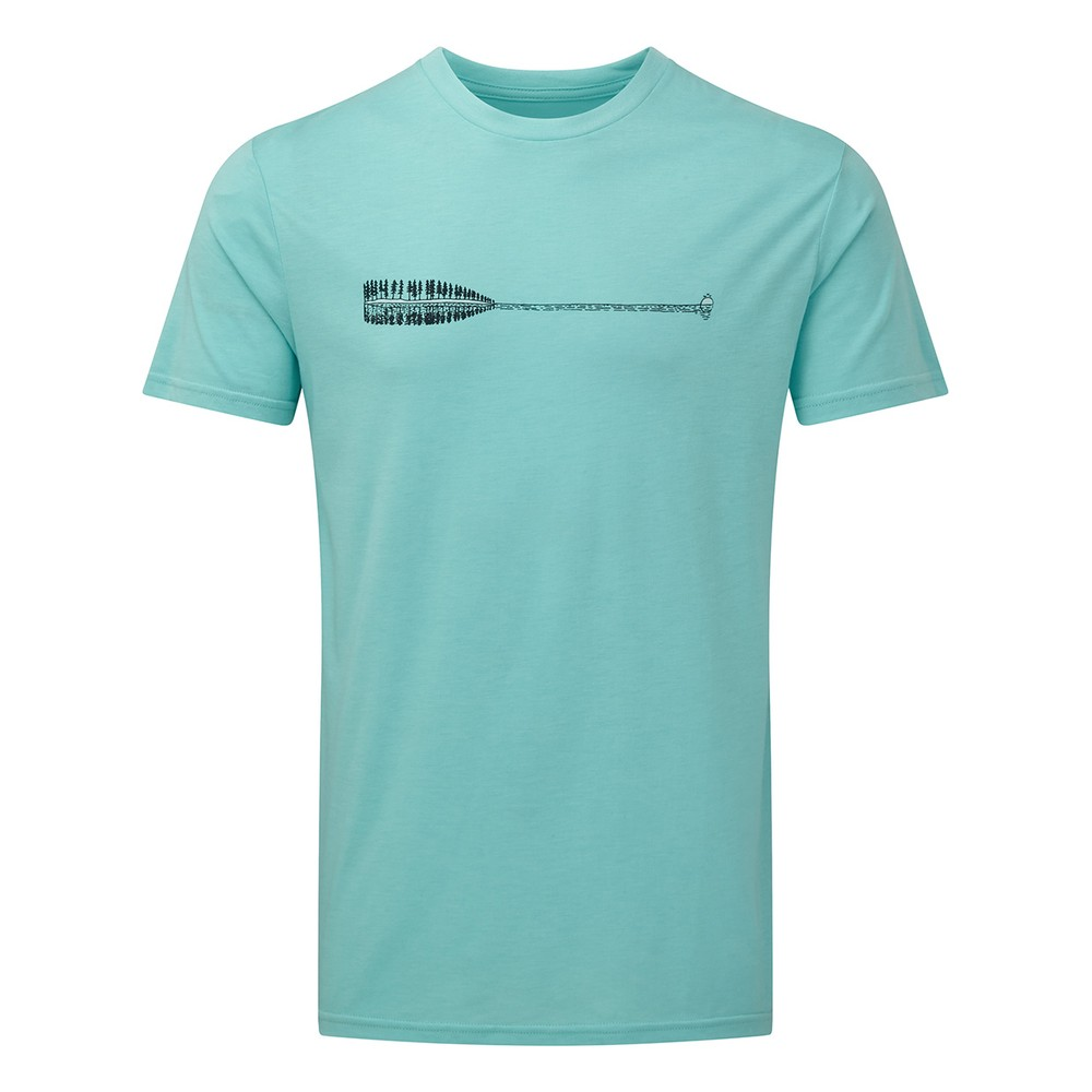 tentree Cove Classic T-Shirt Mens Moraine Blue Heather
