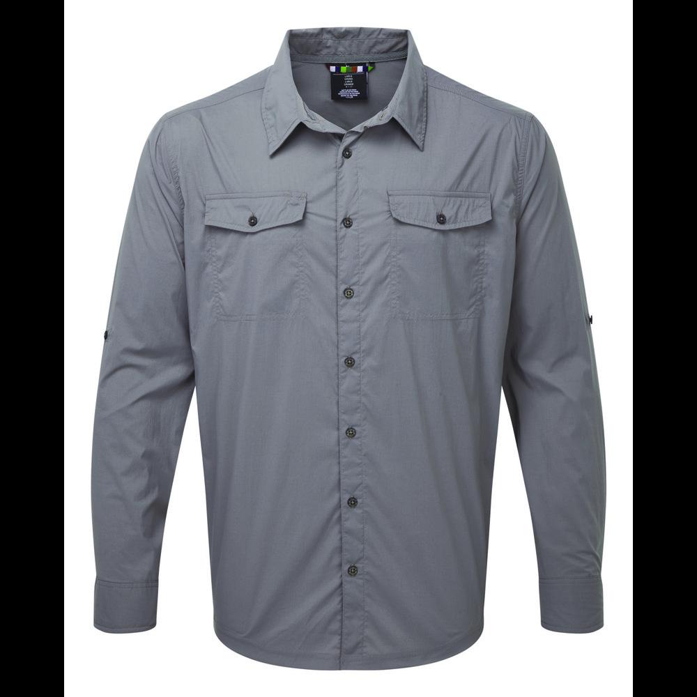 Sherpa Ravi Long Sleeve Shirt Mens Monsoon Grey