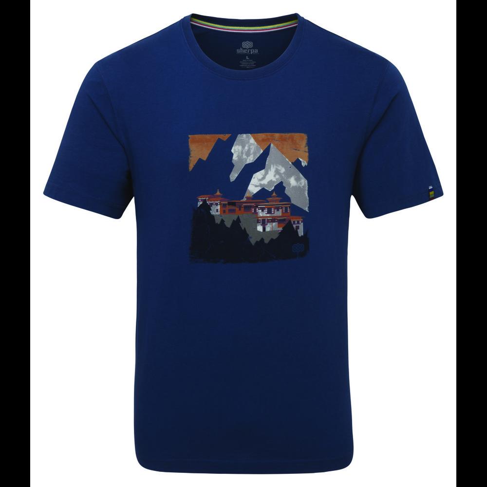 Sherpa Mandir Tee Mens Neelo Blue