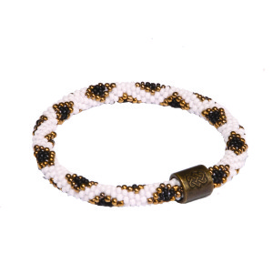 Mayalu Peacock Roll On Bracelet Black