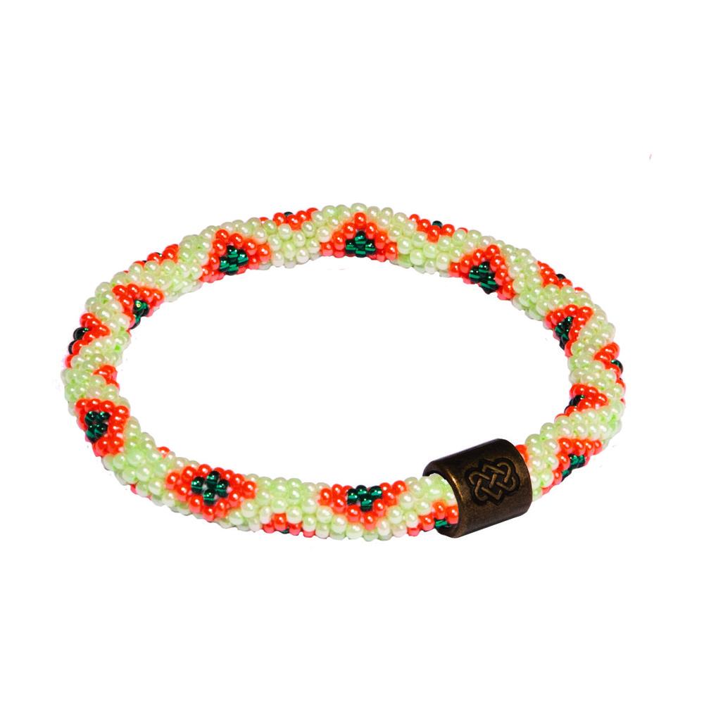 Sherpa Mayalu Peacock Roll On Bracelet Rathna green