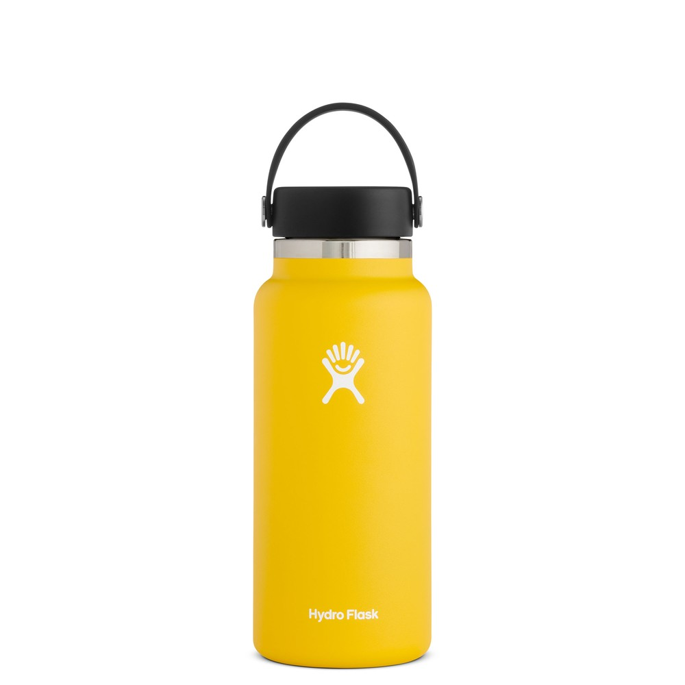 Hydro Flask 32oz Wide Mouth w/Flex Cap 2.0 Sunflower