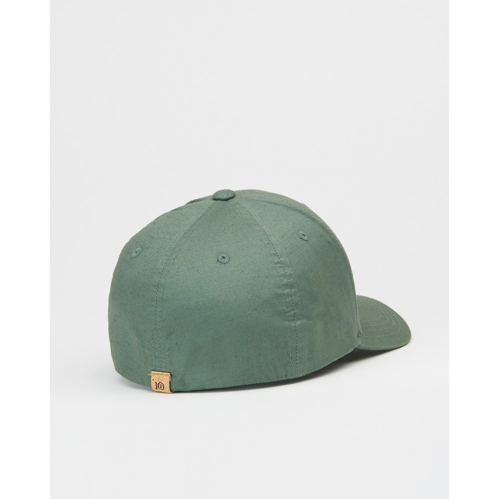 tentree 6-Panel Thicket Hat Forest Green Hemp