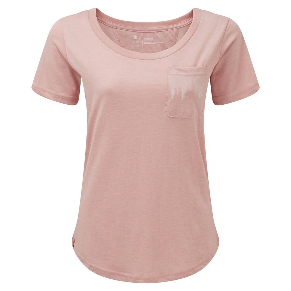 tentree Juniper Pocket T-Shirt Womens Quartz Pink Heather