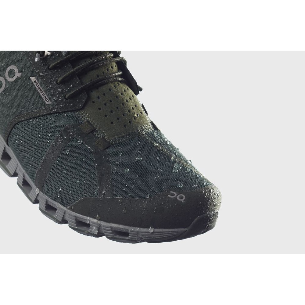 On Running Cloud Waterproof Mens Forest/Lunar
