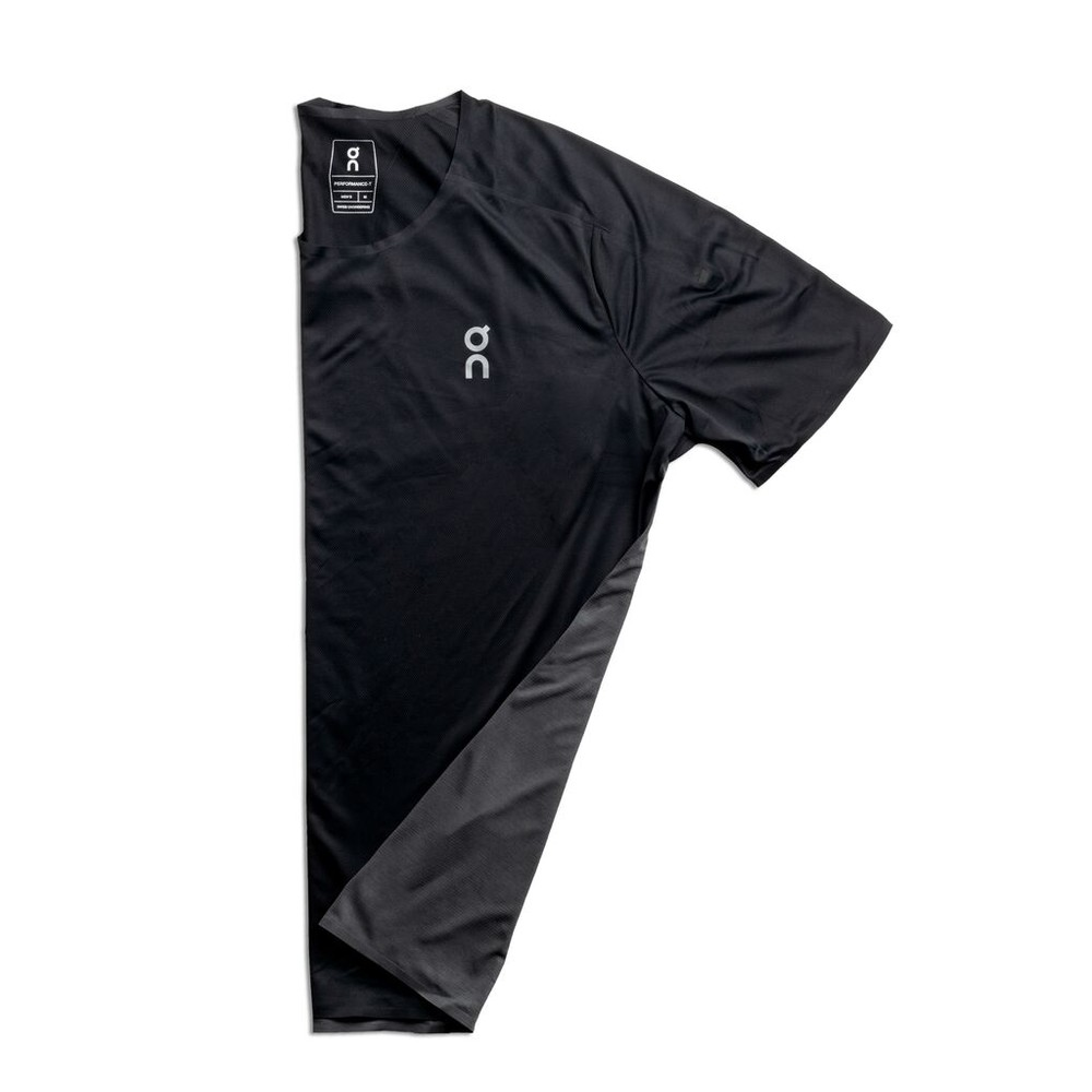 On Running Performance T Mens Black/Shadow