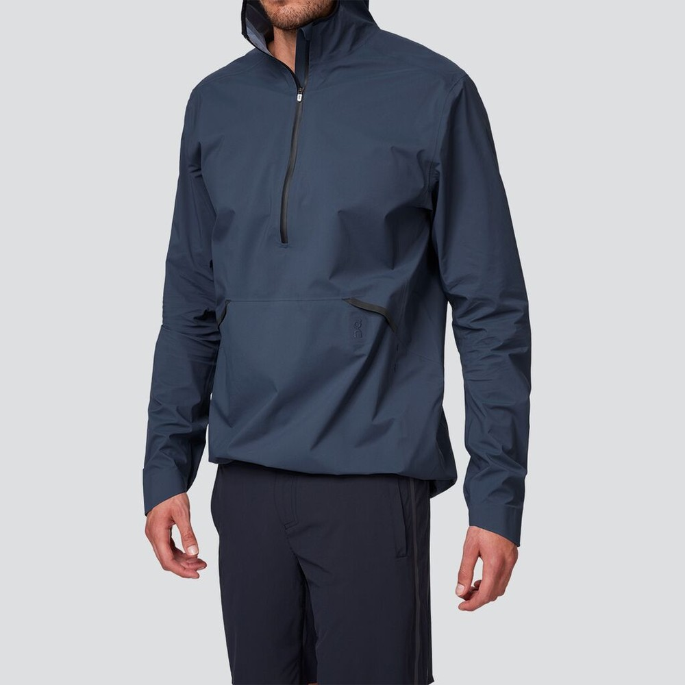 On Running Waterproof Anorak Mens Navy