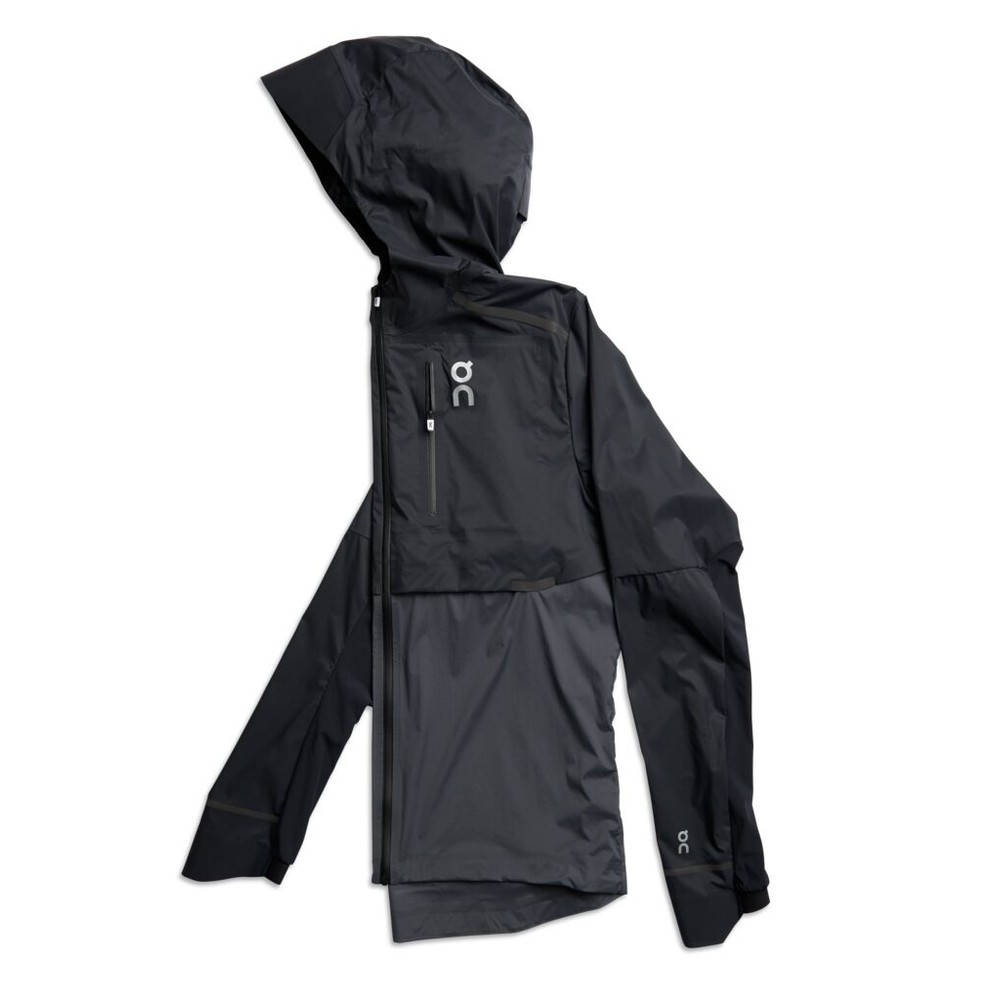 On Running Weather Jacket Mens Black/Shadow