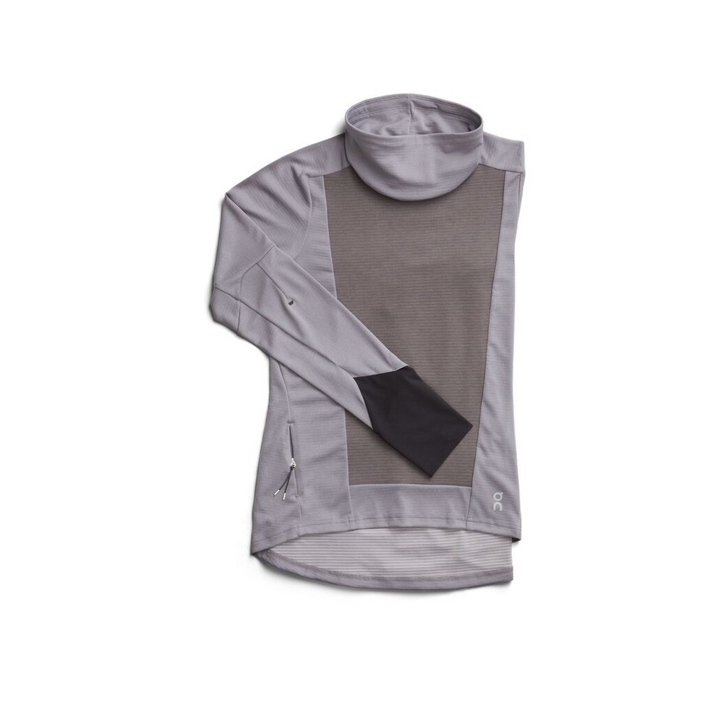 On Running Weather Shirt Womens Fossil/Rock