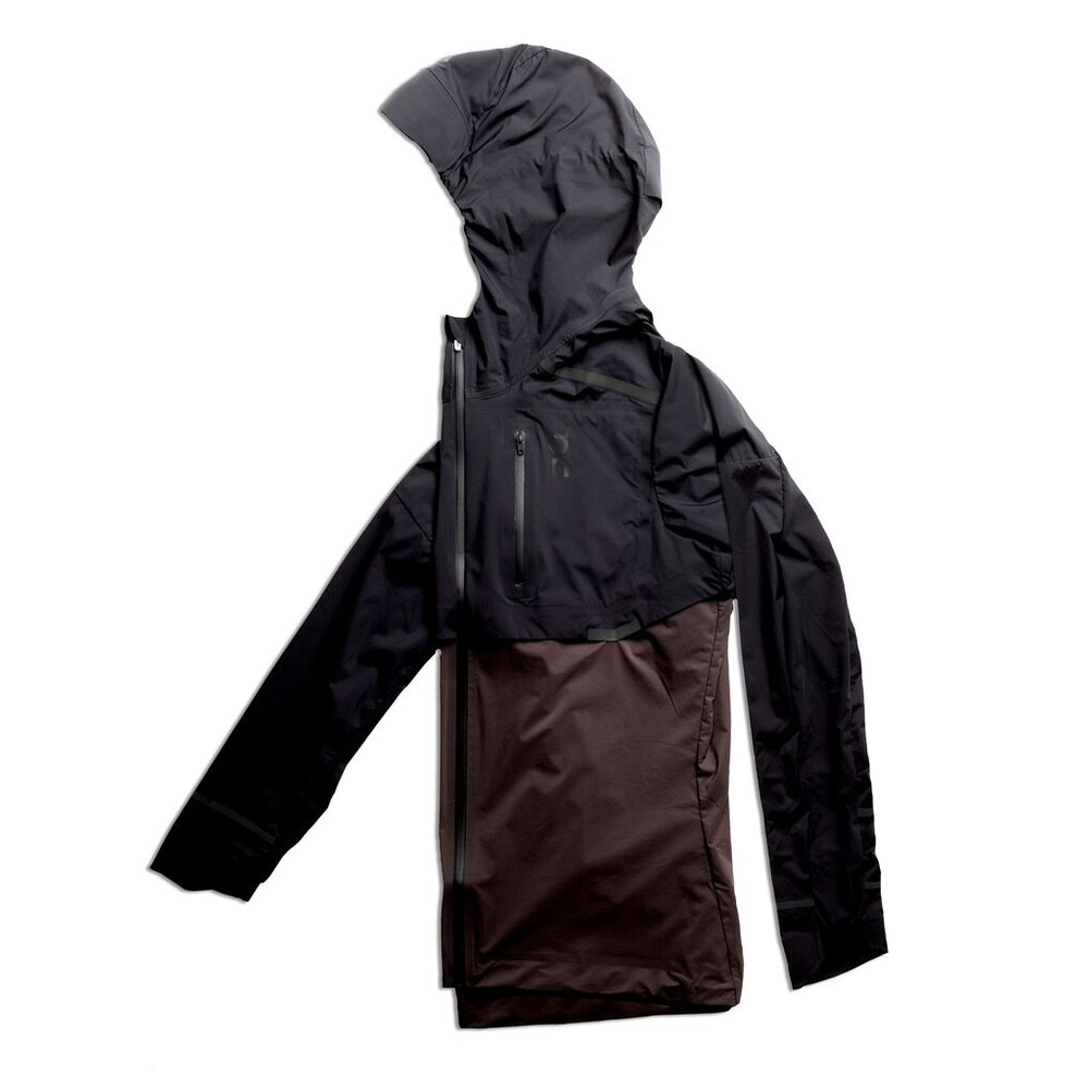 On Running Weather Jacket Womens Black/Pebble