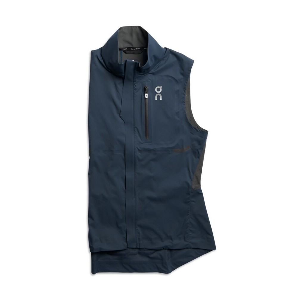On Running Weather Vest Womens Navy/Shadow