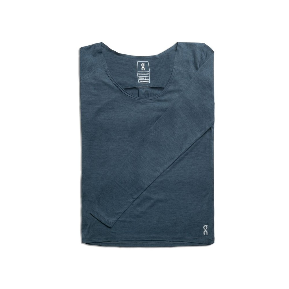 On Running Performance Long T Womens Navy