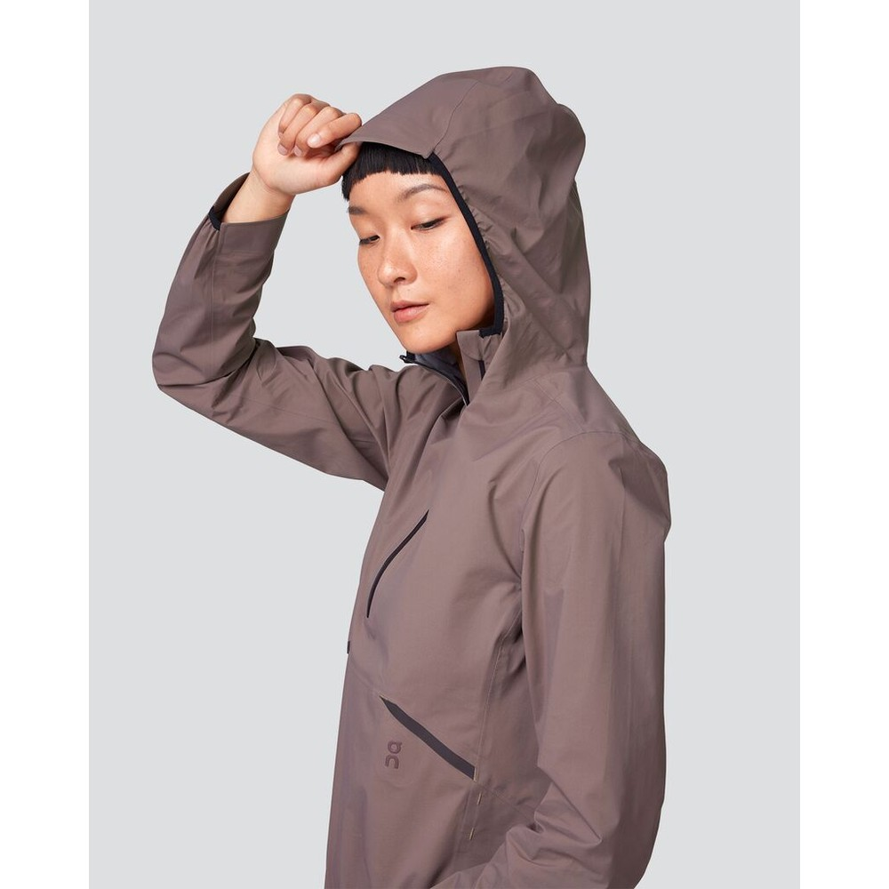 On Running Waterproof Anorak Womens Grape