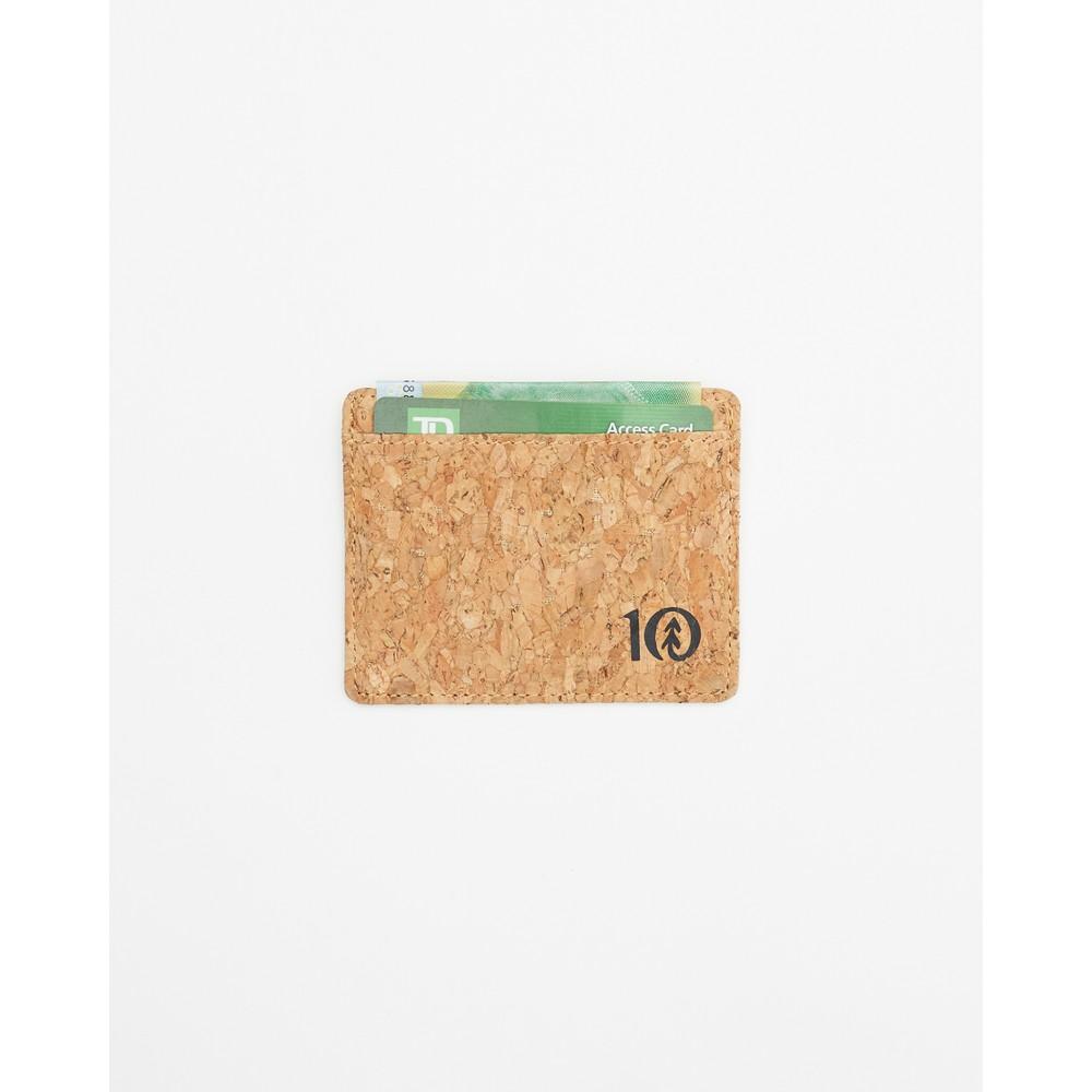 tentree Redbud Cork Card Holder Cork Fabric