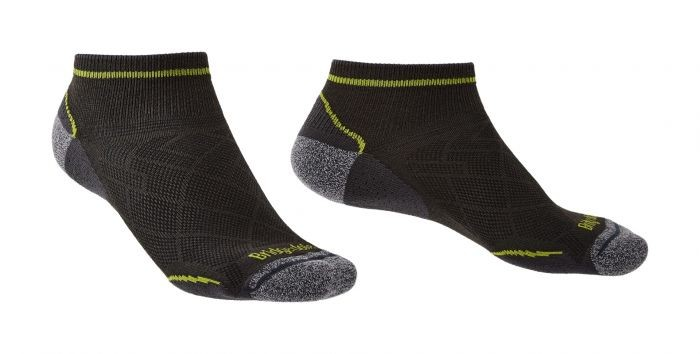 Bridgedale Hike Ultra Light Coolmax Performance Ankle  Mens Graphite/Lime