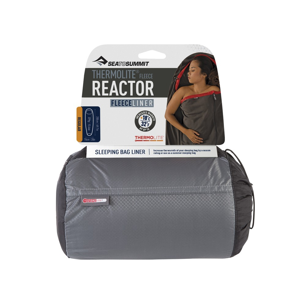 Sea To Summit Reactor Fleece Liner - Thermolite Fleece Liner Grey