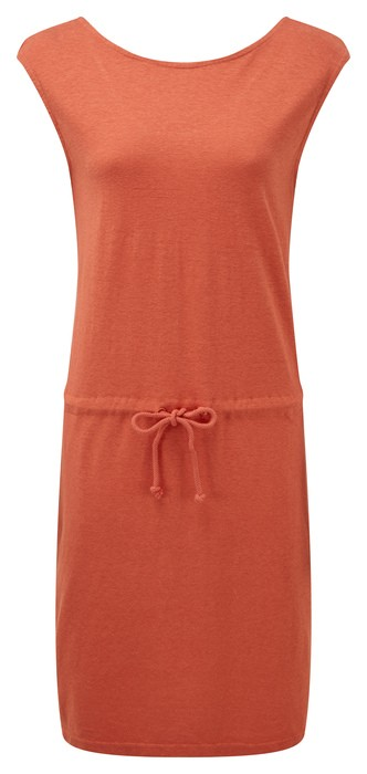tentree Icefall Dress Womens Burnt Sienna Orange