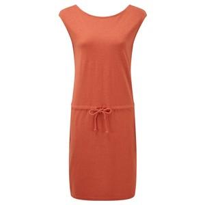 tentree Icefall Dress Womens in Burnt Sienna Orange