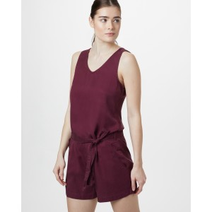 Langford Jumpsuit Womens Merlot Red